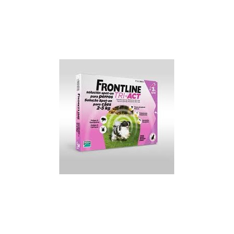 FRONTLINE TRI-ACT 2-5 KG 3 PIPETAS