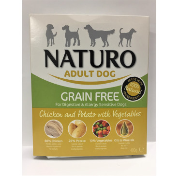 NATURO ADULT CHICKEN&POTATO 400GRS.
