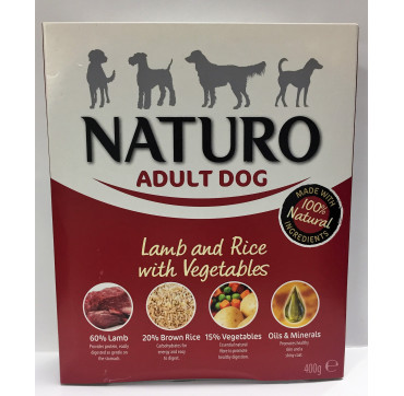 NATURO ADULT LAMB&RICE 400GRS.