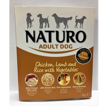 NATURO ADULT POLLO CORDERO&ARROZ INT.400GRS.