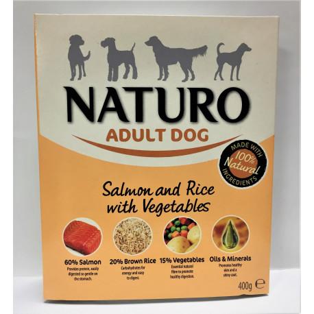 NATURO ADULT SAL&RICE 400GRS.